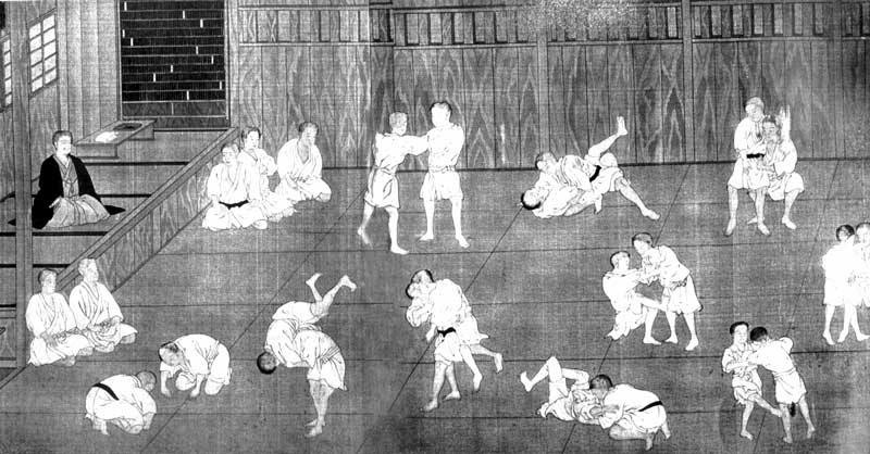 Artes marciales ilustracion. BJJ Barcelona Jiu Jitsu. Martial Arts Barcelona Gym.