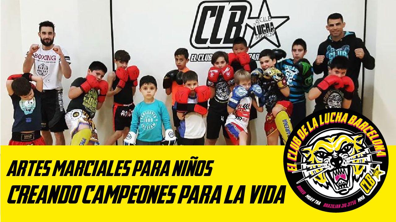 niños practicando artes marciales en barcelona