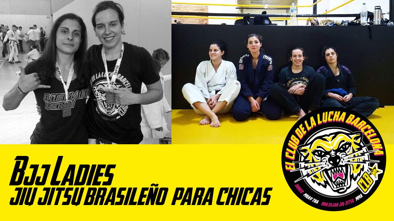 Chicas practicando jiu jitsu brasileño