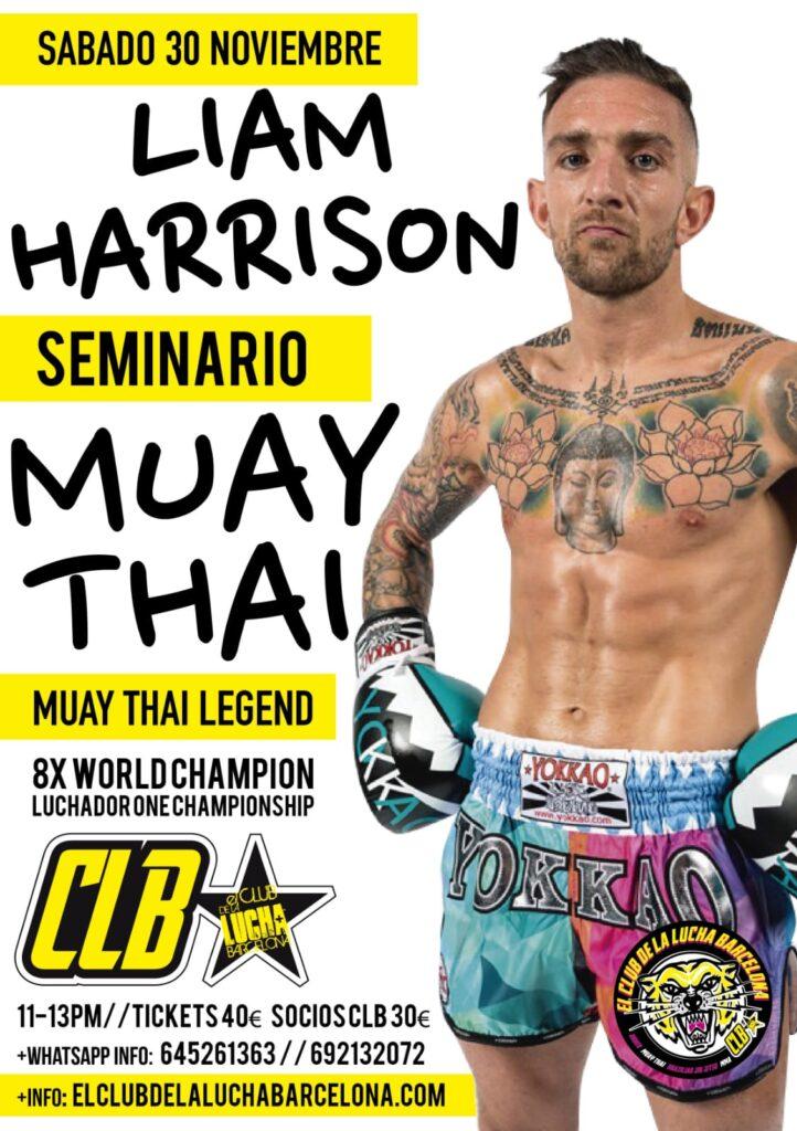 Liam Harrison. Gimnasio Muay Thai Barcelona